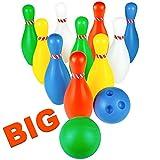 jerryvon Großes Bowling Kegel Kinder Kegelspiel Spielzeug Spiele 12 Set