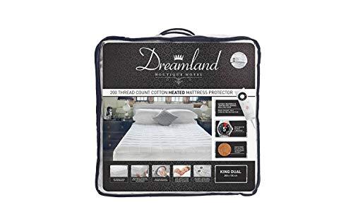 Dreamland Boutique - Protector de colchón de doble control, tamaño king
