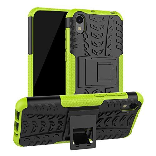 LFDZ Compatible Huawei Y5 2019 Hülle, Abdeckung Cover schutzhülle Tough Strong Rugged Shock Proof Heavy Duty Hülle Für Huawei Y5 2019 / Honor 8S (Nicht für Huawei Y5 2018),Grüne