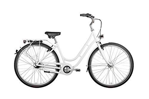 "Vaun 28"" Zoll Alu Damen Fahrrad City Bike Shimano Nexus Nabendynamo Rh50 Weiss"
