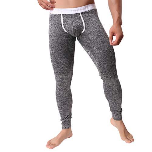 YOCheerful Mens Underpants, Men Spring Winter Shapewear Underpants Thermal Underwear Pants Trousers Sexy Leggings Pants Black