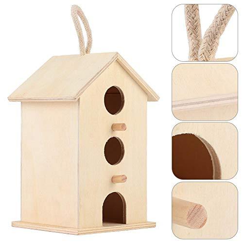 Vogelhaus, hängende hölzerne Vogelnester Hauszucht Ruhebox liefert im Freien Garten dekoratives Vogelhaus für Papageien