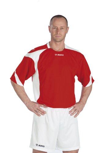 Masita Fußball Trikot Valencia Teamwear kurzarm, rot/weiss, 111036-5010, Gr. XS/S