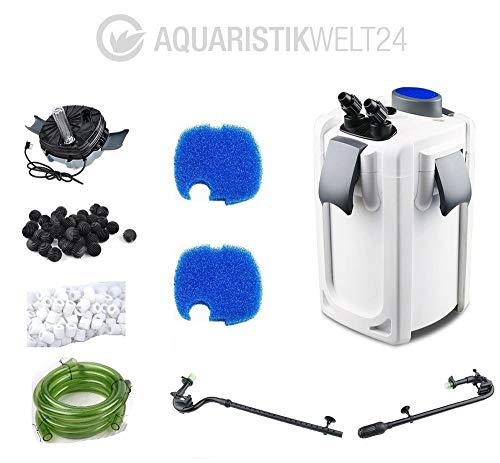Aquarium Außenfilter HW-703B 30W 1400 L/h bis 700l Becken Filtermaterial Uvc Filter Schwammfilter Wasserfilter Leise
