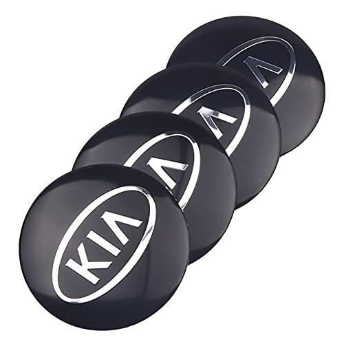 tieoqioan Etiqueta engomada de la Tapa del Cubo del Centro de la Rueda del Coche de Aluminio para KIA Sportage Rio K2 Sorento Picanto Optima Ceed Cadenza K5 Insignia calcomanía