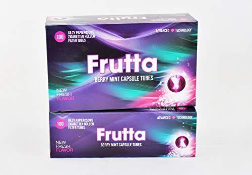 Frutta Hülsen mit Klick Berry Mint Capsule Tubes 5 er Pack 5 x 100Stk.
