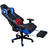 Nokaxus Gaming Chair Large Size High-Back Ergonomic Racing Seat with Massager...