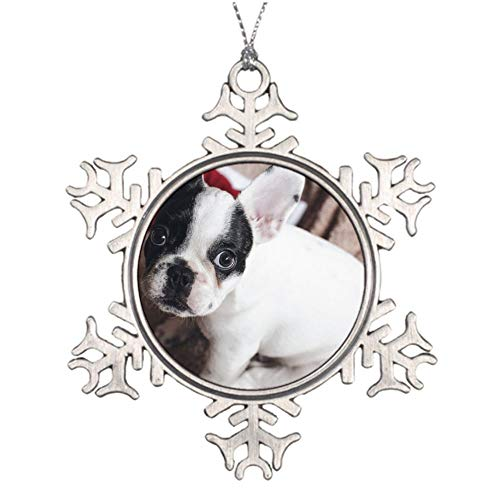 Christmas Ornaments, Christmas Frenchie Ornament Tree Hanging Decor Gift for Families Friends,3 Inch