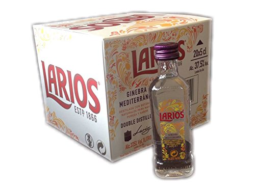 Pack 20 botellitas ginebra Larios 50ml miniatures