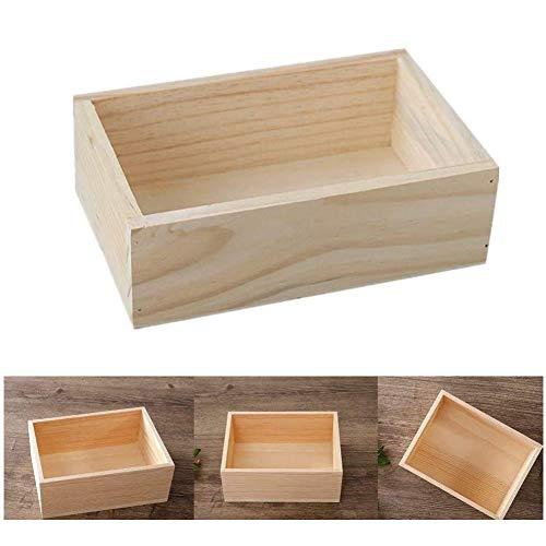 Milopon Aufbewahrungskiste Holzkiste Holzbox Ordnungsbox Vintage Dekokiste Allzweckkiste Holzkasten