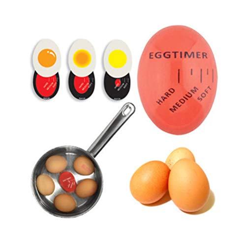 Macabolo Eieruhr mit Farbwechsel, aus Kunstharz, zum Kochen von weichen oder hart gekochten Eiern.