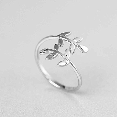 Windy5 Zink-Legierung Natur Olivenbaum Ast Blatt Blätter Ring Frauen Schmuck One Size