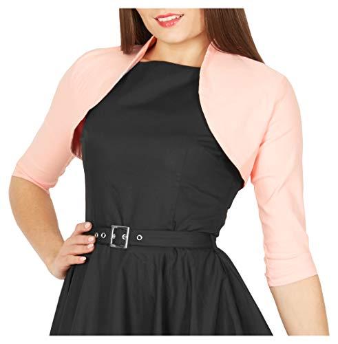 BlackButterfly Tailored 3/4 Sleeve Bolero (Pink, US 14)