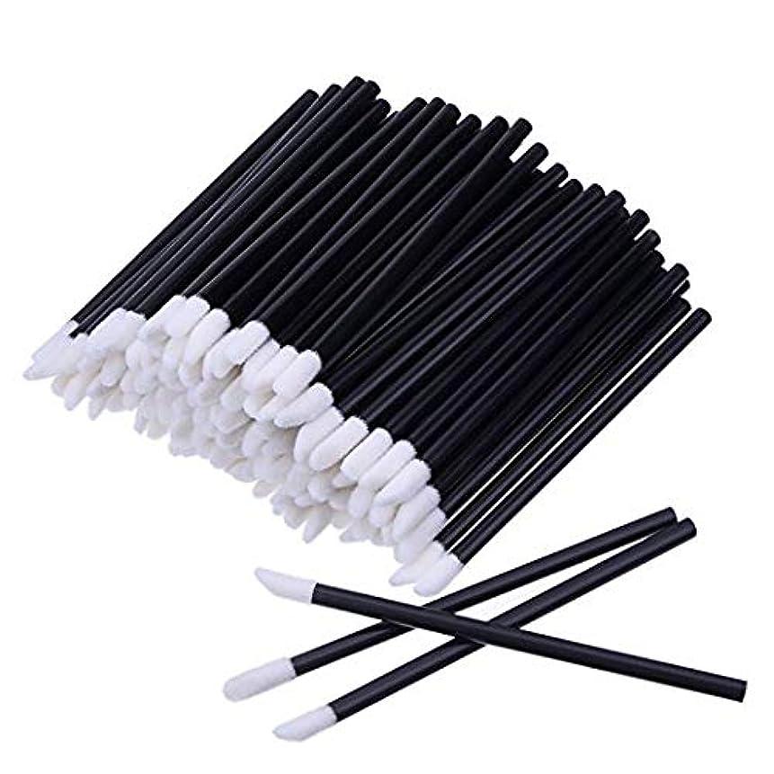 ふさわしいアクロバット入場料KEDSUM リップブラシ 使い捨て 300本入り メイクブラシ 化粧用品 化粧筆 化粧ブラシ 携帯用 便利 (ブラック)