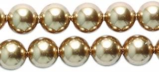 Swarovski 5810 Crystal Round Pearl Beads, 5mm, Bronze, 50-Pack