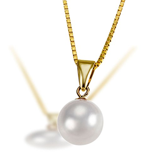Goldmaid Damen-Halskette Pearls 585 Gelbgold 1 Akoya Perle Kettenanhänger Schmuck Perlenkette
