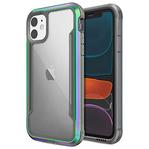 Raptic Shield, Compatible with Apple iPhone 11 (Formerly Defense Shield) - Military Grade Drop Tested, Anodized Aluminum, TPU, and Polycarbonate Protective Case, Apple iPhone 11, Iridescent