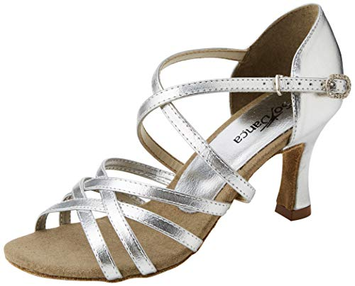 So Danca Damen Bl164 Standard- & Latintanzschuhe, Silber (Silver)37 EU (M 7 L)