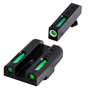 TRUGLO TFX Tritium and Fiber-Optic Xtreme Handgun Sights for Glock Pistols Standard Height Glock 42 43 43x 48 Black