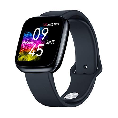 Smart Watch Fitness Tracker IP67 Frecuencia cardíaca Presión Arterial Deporte IPS Pantalla a Color Reloj Inteligente,Negro