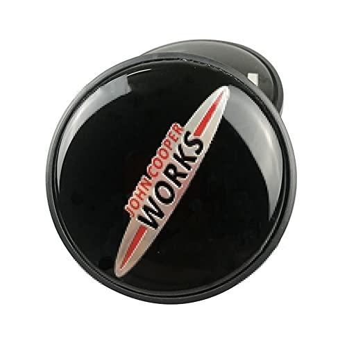 TUQYED Cubierta central para coche compatible con BMW Mini Cooper S COUPE JCW F56 F60 R50 R52 R53 R55 R56, cubierta central de la rueda emblema insignia tapacubos accesorios ABS (color: logotipo JCW