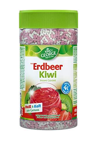 KING GEORGE - Royal Tea Time, Erdbeer-Kiwi Instantgetränk 6 x 400 g, Heiß & Kalt ein Genuss