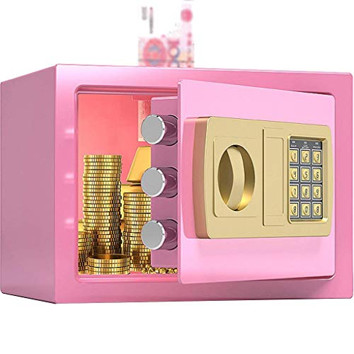 Cabinet Safes, Safe Wall Safes for Home,Home Small Digital Password Insurance Cabinet, Home Anti-Theft Safe Deposit Box, Creative Piggy Bank for Girls, The Best Gift