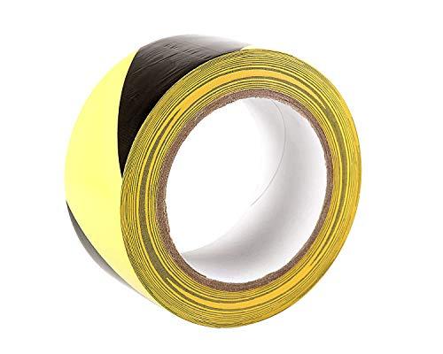 Gefahr Warnung Klebeband, 33 m x 50 mm (5,1 cm) - selbstklebend Markierungsband, hochwertige Rolle von gocableties (schwarz/gelb) - 2