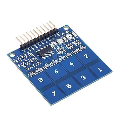 ZTSHBK TTP226 8 8CH-Kanal Digitaler kapazitiver Schalter Berührungssensormodul für Arduino Berührungssensor IC 8 Tasten DIY Kit Electronic Board