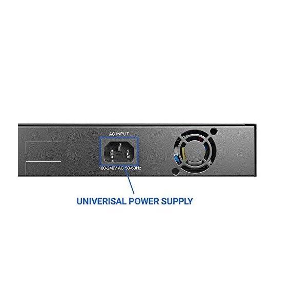 BV-Tech 8 Gigabit PoE+ Ports with 2 Enthernet Uplink, 130W, 802.3af/at POE-SW802G 4 8 Gigabit PoE+ Ports at 10/100/1000Mbps each 2 Gigabit Ethernet Uplink Ports at 10/100/1000Mbps each 130W Max Power (up to 30W per port)