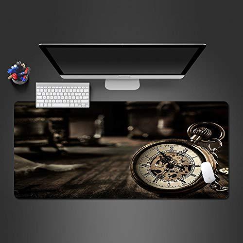 Azbza Alfombrilla Raton Personalizada , Retro europeo reloj tiempo ( 700 x 300 x 3 mm ) - Alfombrilla de ratón gaming Alfombrilla de Ratón Grande Gaming Microfibras Alfombrilla Base de Goma Antidesliz