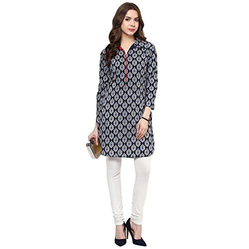 Indian Virasat Women's Cotton Straight Kurti (Ivk361-Xxl,