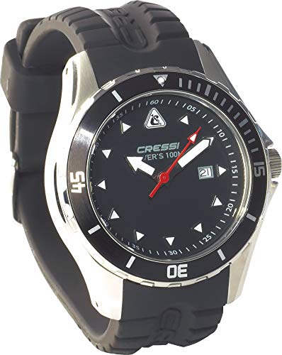 ScoobaGoodies Cressi Manta Classic - Reloj de buceo sumergible (100 m)