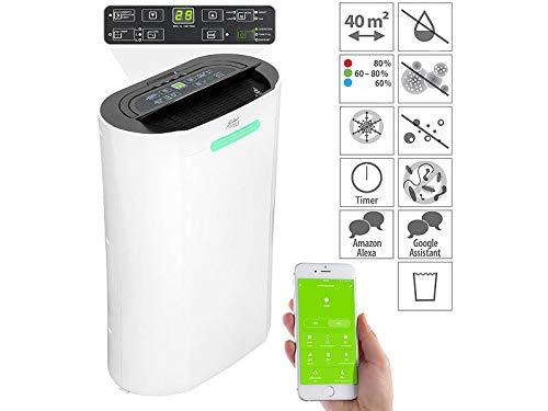 Sichler Haushaltsgeräte Innenraumentfeuchter: Luftentfeuchter, 20 l/Tag, für Amazon Alexa & Google Assistant, 365 W (Raumluft-Reinigungsgerät)