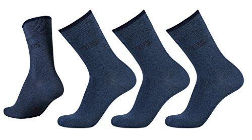 camel active Basic Socks 3er Pack 6593 546 indigo melange Strumpf blau, Size:39-42