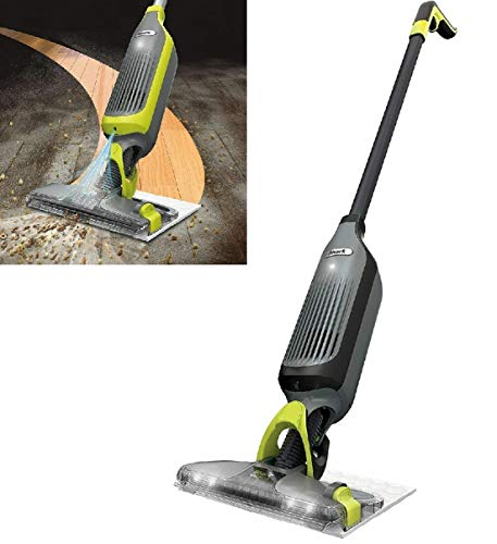 Shark QM250 / VM250 VACMOP Pro Cordless Hard Floor Vacuum Mop with Disposable Pad, Charcoal Gray- -(Renewed) (Shark QM250)