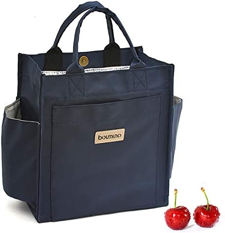 Boumuno Lunch Bags For Women Men Wide Open Lunch Tote Box For Office Travel Picnic Leak Proof product image