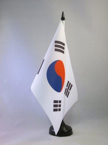 AZ FLAG TISCHFLAGGE SÜDKOREA 21x14cm - KOREANISCHE TISCHFAHNE 14 x 21 cm - flaggen