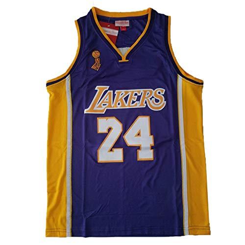 CLKJ Kobe Bryant - Camiseta de baloncesto para hombre, 24 Lakers 09, versión campeón, sin mangas, cómodo chaleco de baloncesto color B-S
