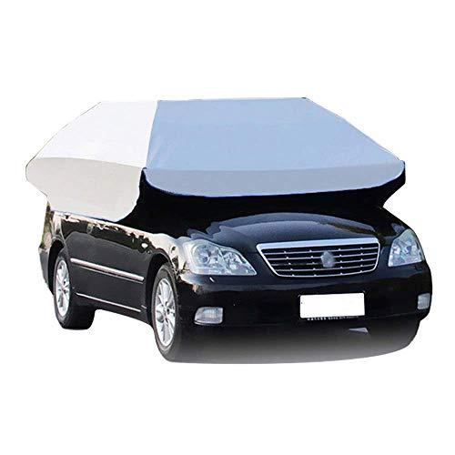 LLSS 2 in 1 Car Tent Umbrella and Beach Tent, Anti-UV Car Tent Movable Carport, Waterproof Portable Lightweight Car Umbrella Sunproof Sun Shade Canopy Cover, Silver
