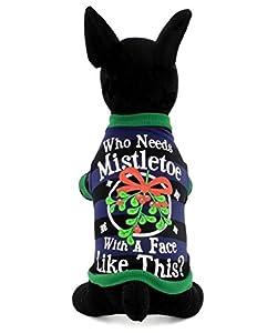 Zunea Pet Vêtements Vêtements pour chiens de petite taille Chat 100% coton gui T-shirt pour homme Imprimé à rayures Bleu Noir