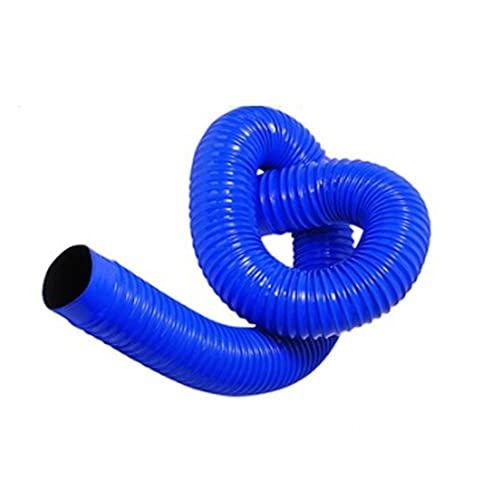 Tubo de vacío industrial, manguera telescópica de goma de PVC azul, tubo de polvo, tubo de ventilación suave y corrugado-200mm * 1m