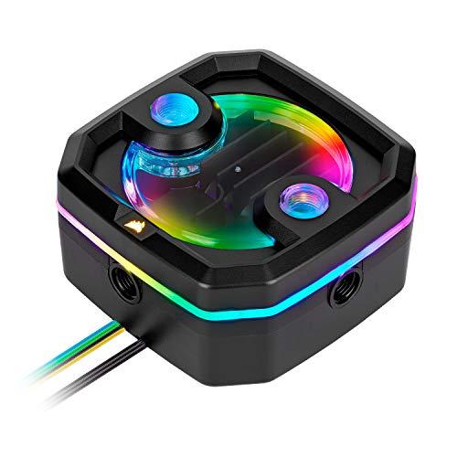 Corsair Hydro X Series, XD3 RGB Pumpen/Ausgleichsbehälter-Kombination (Leistungsstarke Xylem DDC PWM-Pumpe, schlanke Form, integrierter Vorratsbehälter, anpassbare RGB-Beleuchtung) Schwarz