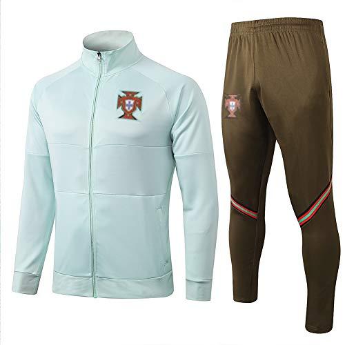 WXQIANG European Football Club Fußball-Trainingsanzug Herren Grün Fußballjacke Langarm Fußball-Sweatshirt Fußball-Trainings-Shirts -WV14314 (Size : M)