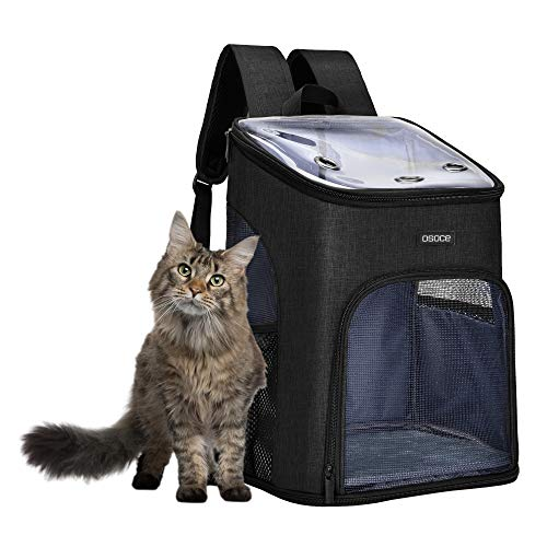 OSOCE Cat Carrier, Pet Carrier for Puppy and Kitty, Ventilated Design Small Dog Carrier Backpacks Rabbits Carrier for Vet Hiking Camping Outdoor Use