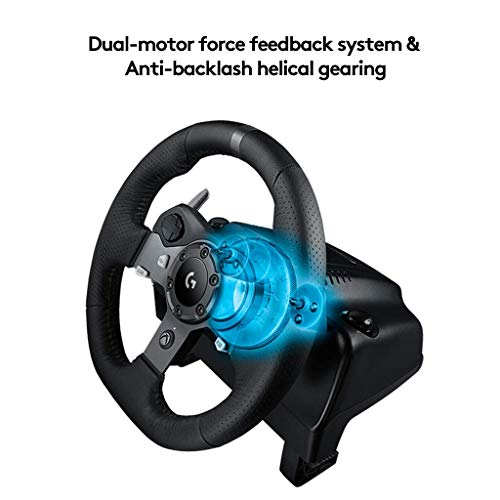 Logitech - Volante da corsa Driving Force per PS4, PS3 e PC (certificato e rigenerato) Sterzo Driving Force per Xbox One, PC Nero