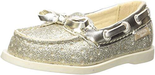 OshKosh B'Gosh Girls Georgie Glitter Boat Shoe, Gold, 7 M US Toddler