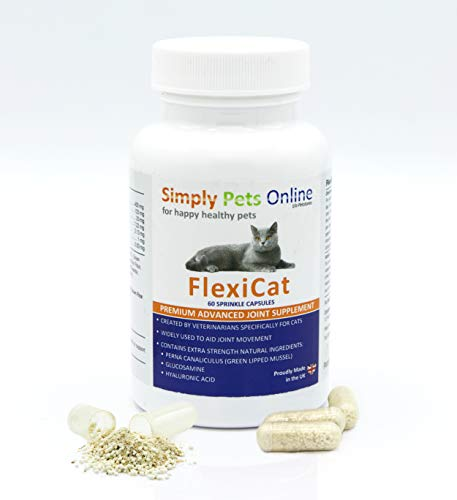 FlexiCat Cat Joint Supplement - Designed by Vets - Green Lipped Mussel - Hip and Joint Care - 60 Capsules