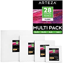 "(6x6"", 8x8"", 10x10"", 12x12"" Set of 28) - Arteza Painting Canvas Panels Multi Pack, 15cm x 15cm , 20cm x 20cm , 25cm x 25cm..."