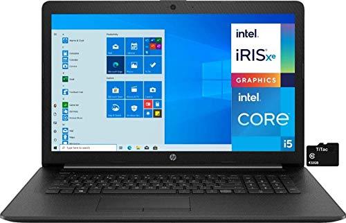 2021 HP 17.3 Laptop Computer HD+ Anti-Glare Display, 11th Gen Intel Quad-Core i5-1135G7 (Beats i7-1065G7), 32GB DDR4 RAM, 1TB SSD, DVD RW, WiFi, Ethernet RJ 45, Webcam, Win 10 S + TiTac Card